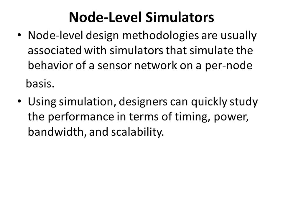 Node-Level Simulators