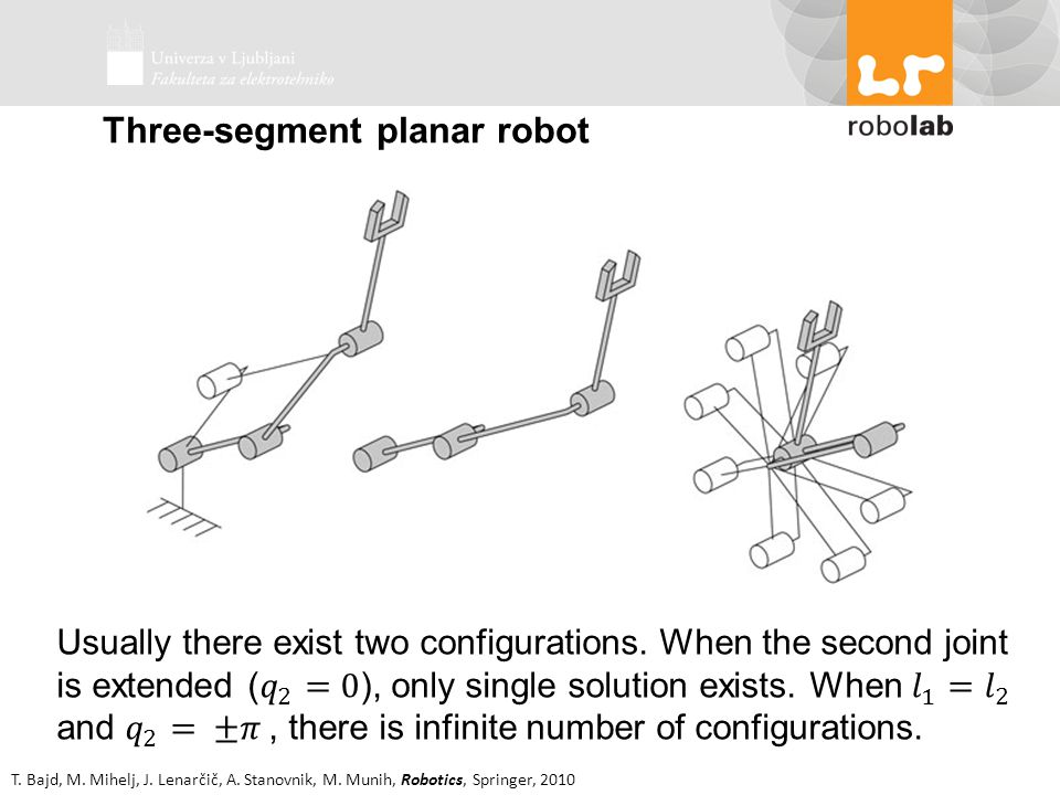 Three-segment planar robot