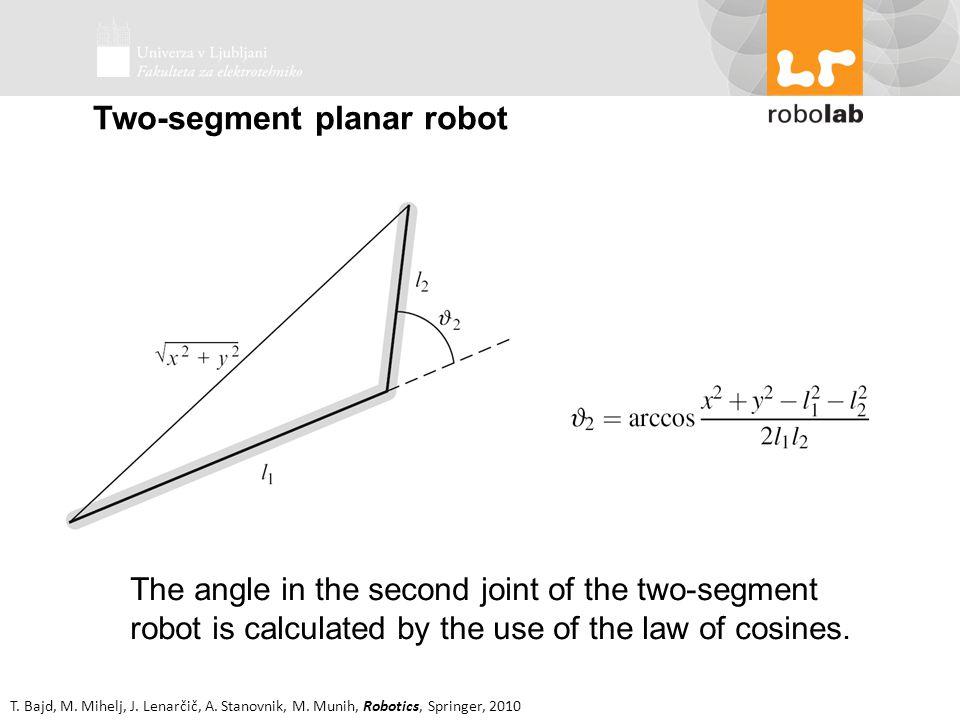 Two-segment planar robot