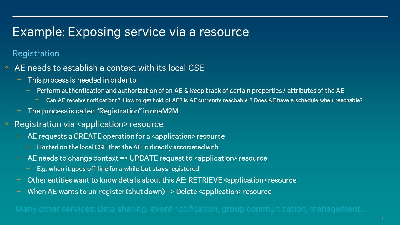Example: Exposing service via a resource
