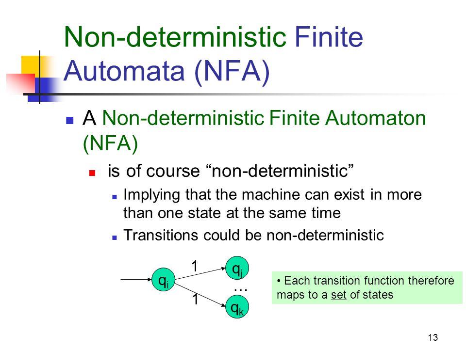 Non-deterministic Finite Automata (NFA)