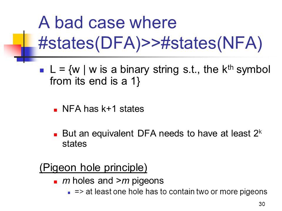 A bad case where #states(DFA)>>#states(NFA)