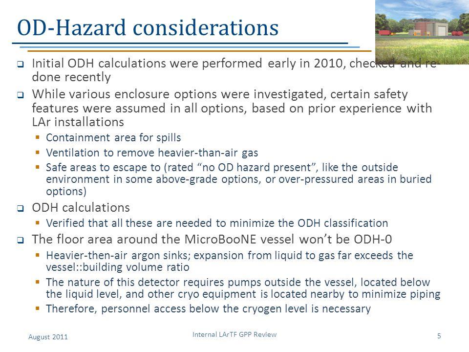 OD-Hazard considerations