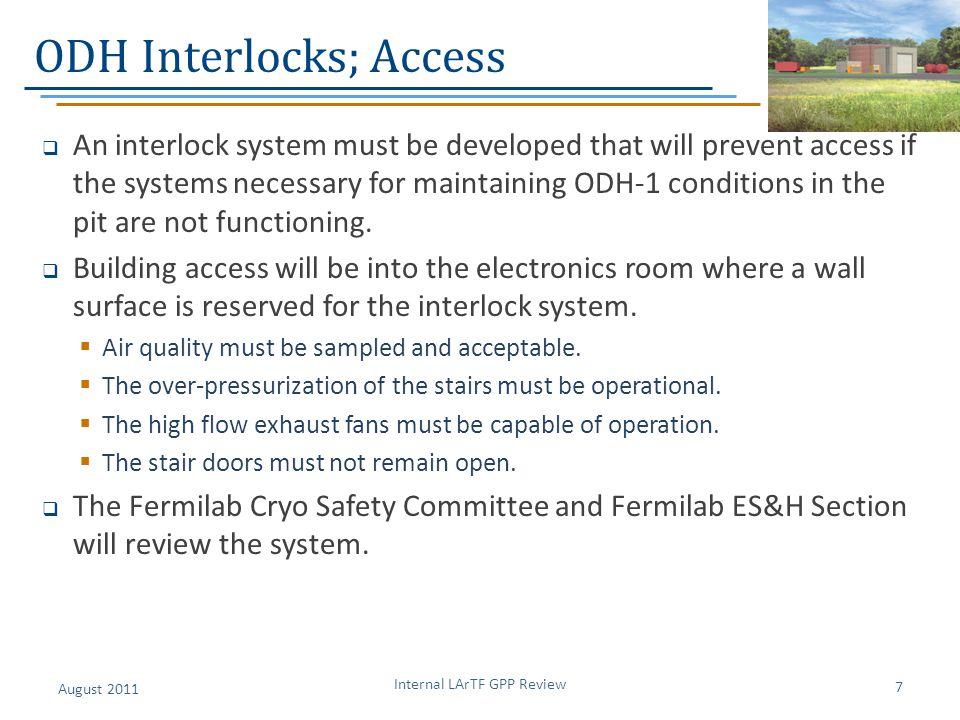 ODH Interlocks; Access
