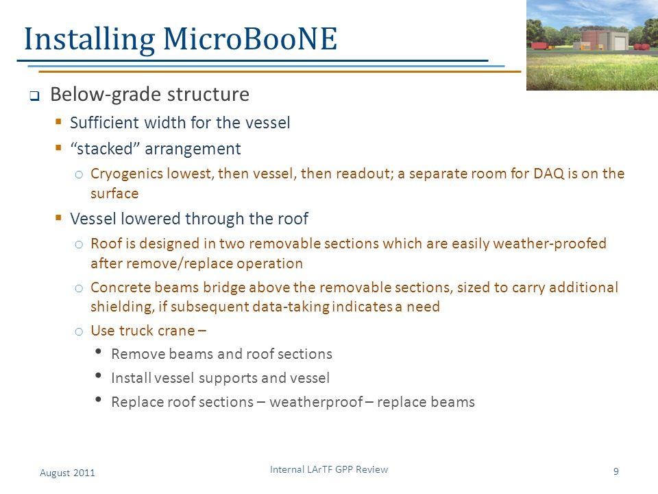 Installing MicroBooNE