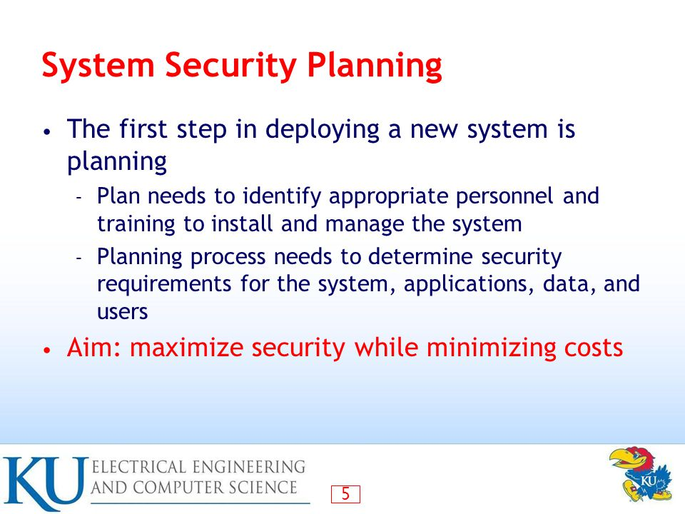 System Security Planning