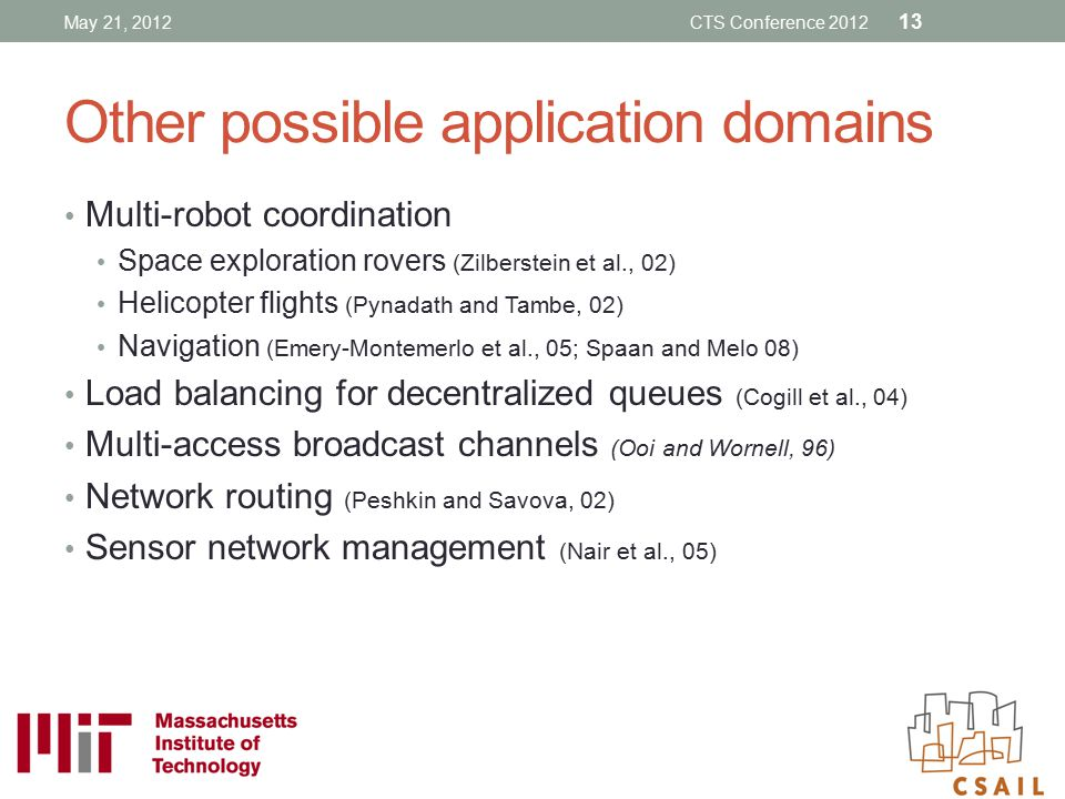 Other possible application domains