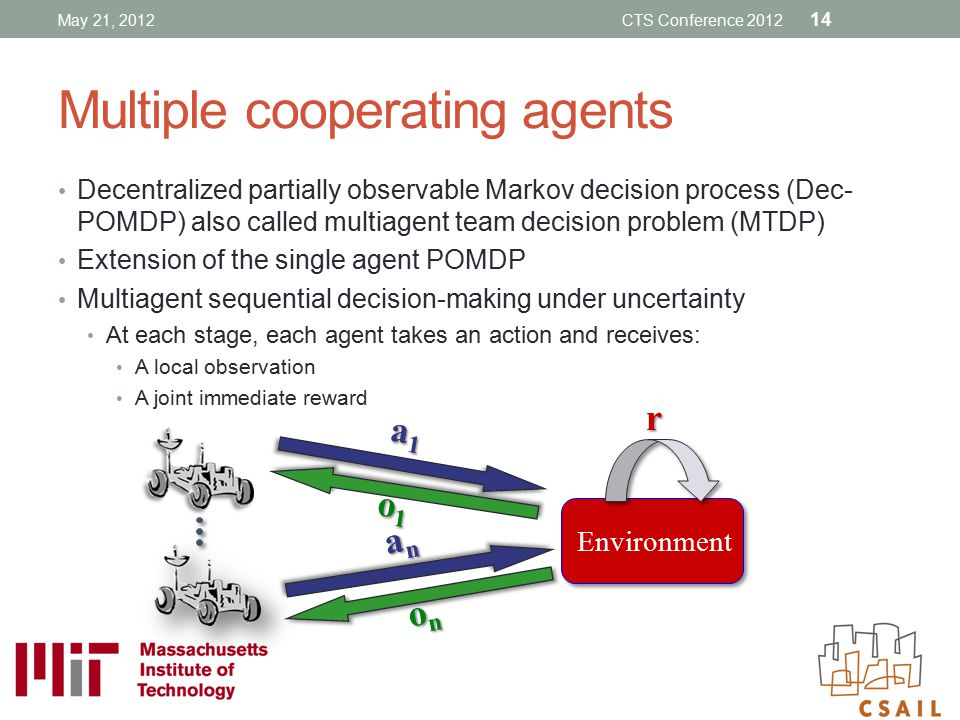 Multiple cooperating agents