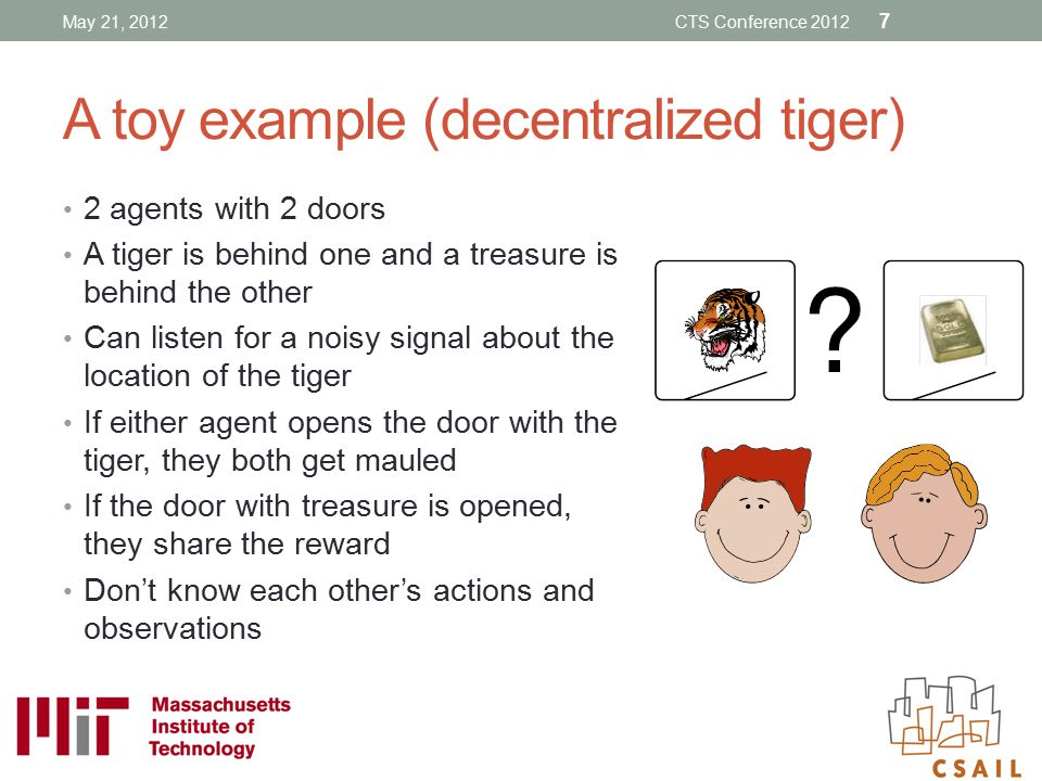 A toy example (decentralized tiger)