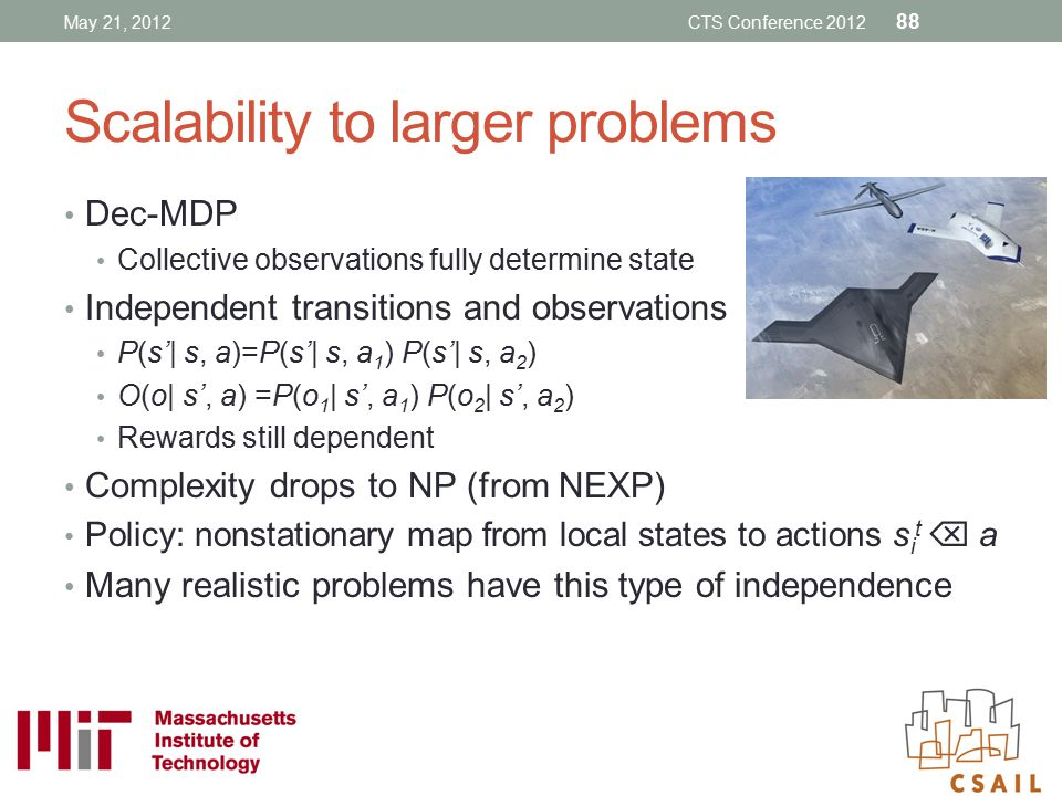 Scalability to larger problems