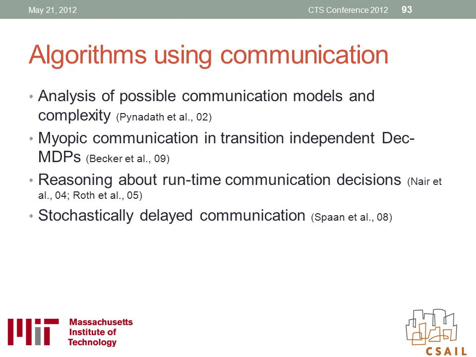 Algorithms using communication