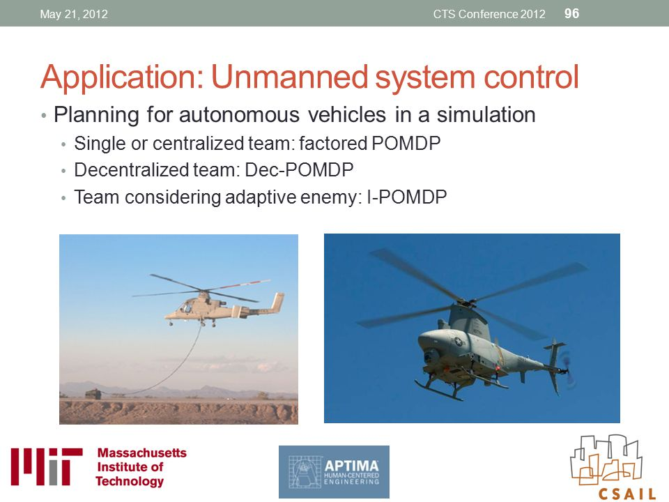 Application: Unmanned system control