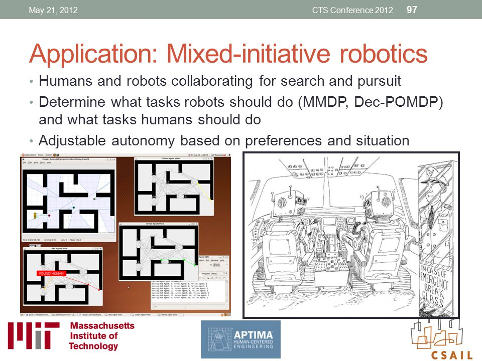 Application: Mixed-initiative robotics