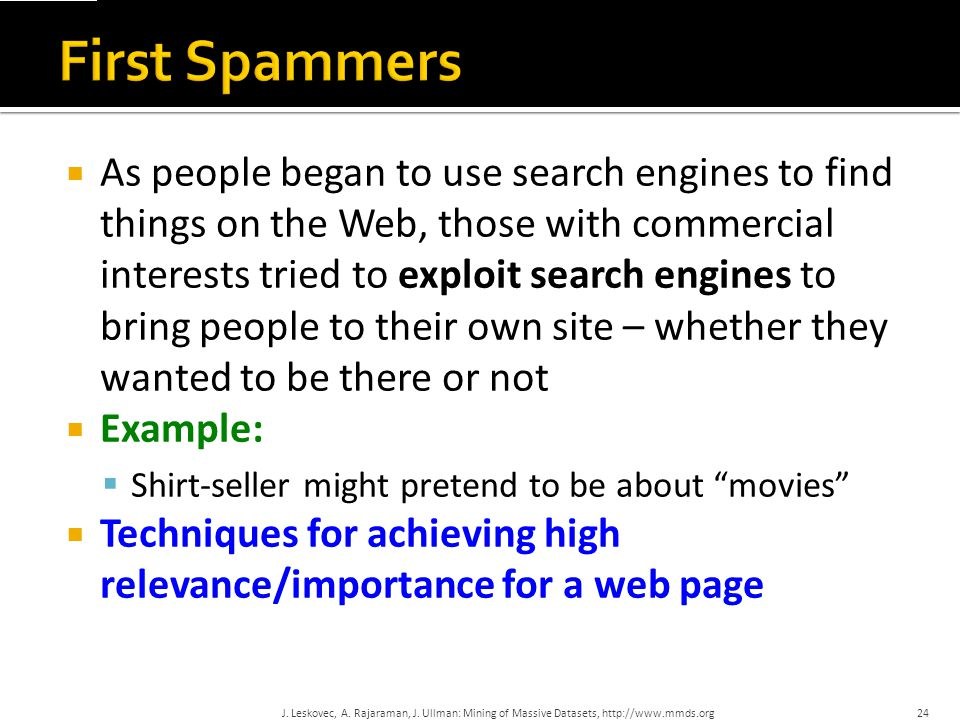 First Spammers
