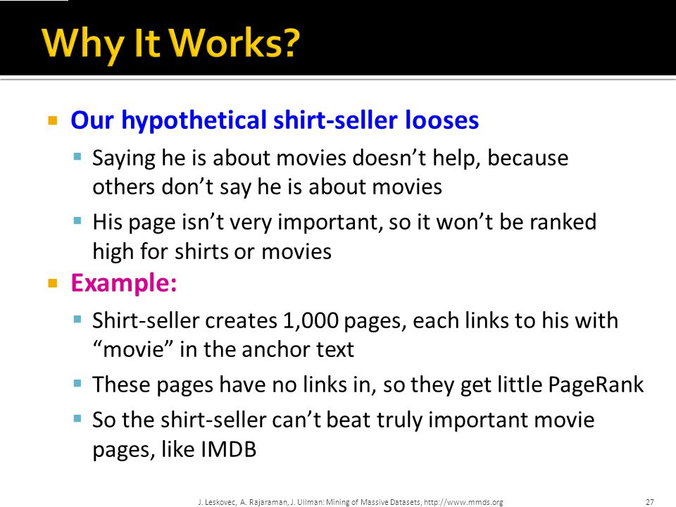 Why It Works Our hypothetical shirt-seller looses Example: