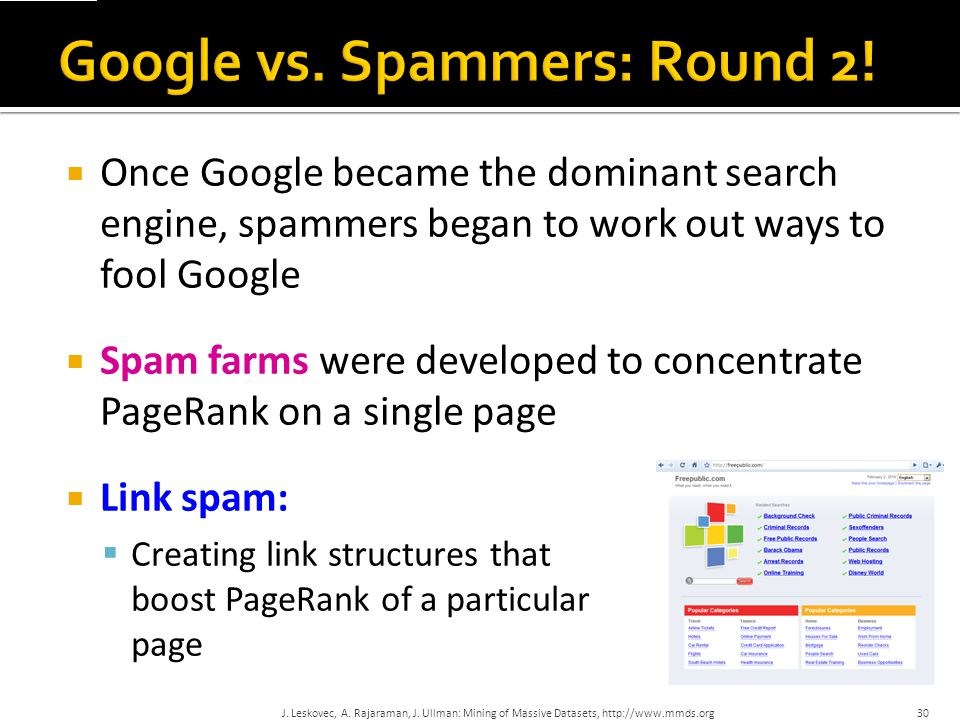 Google vs. Spammers: Round 2!