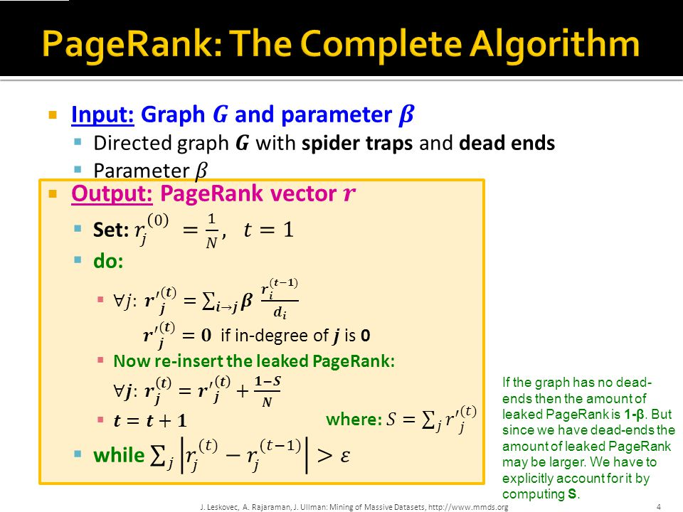 PageRank: The Complete Algorithm