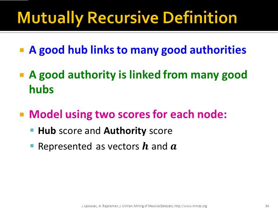 Mutually Recursive Definition