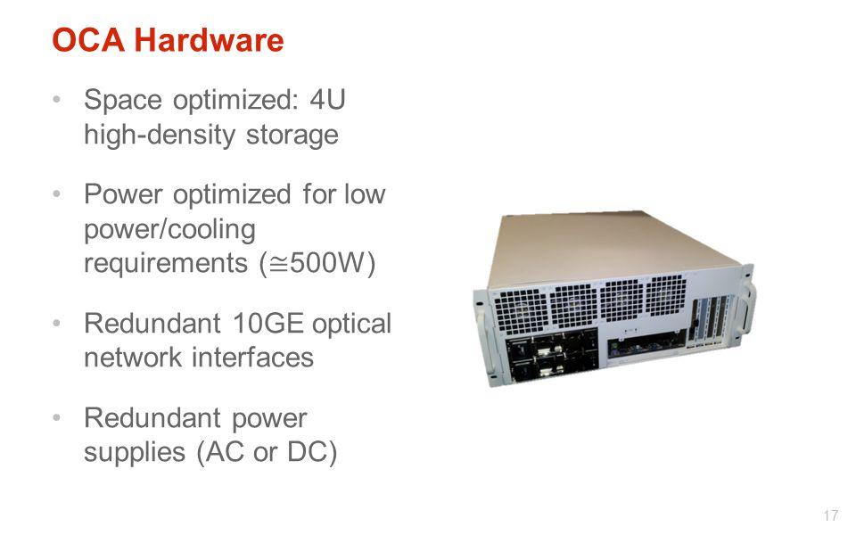 OCA Hardware Space optimized: 4U high-density storage
