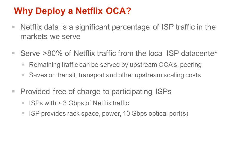 Why Deploy a Netflix OCA