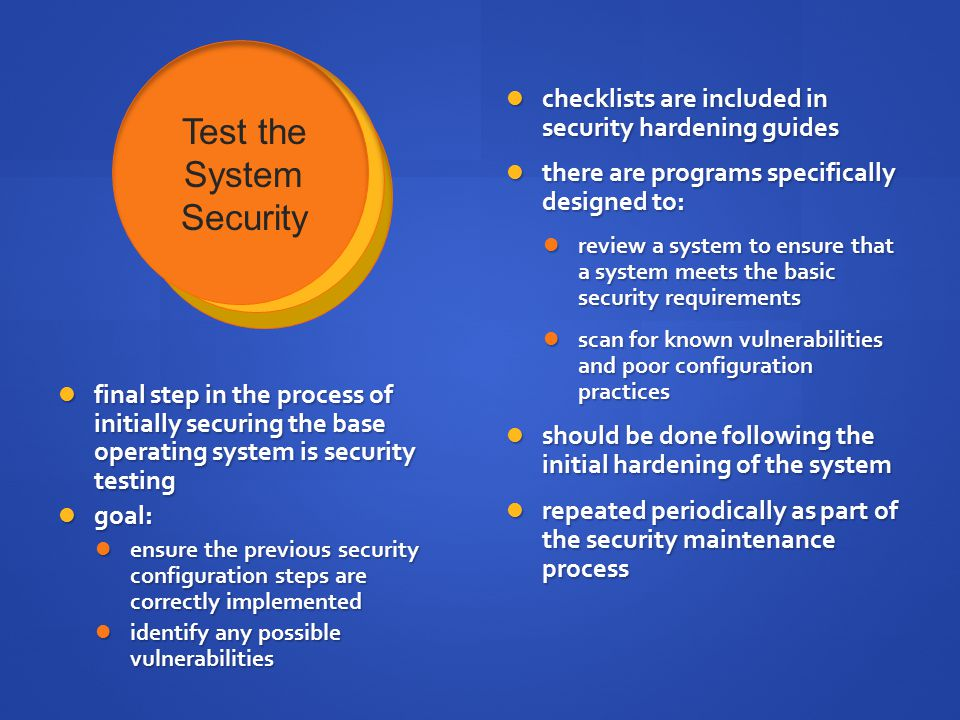 Test the System Security