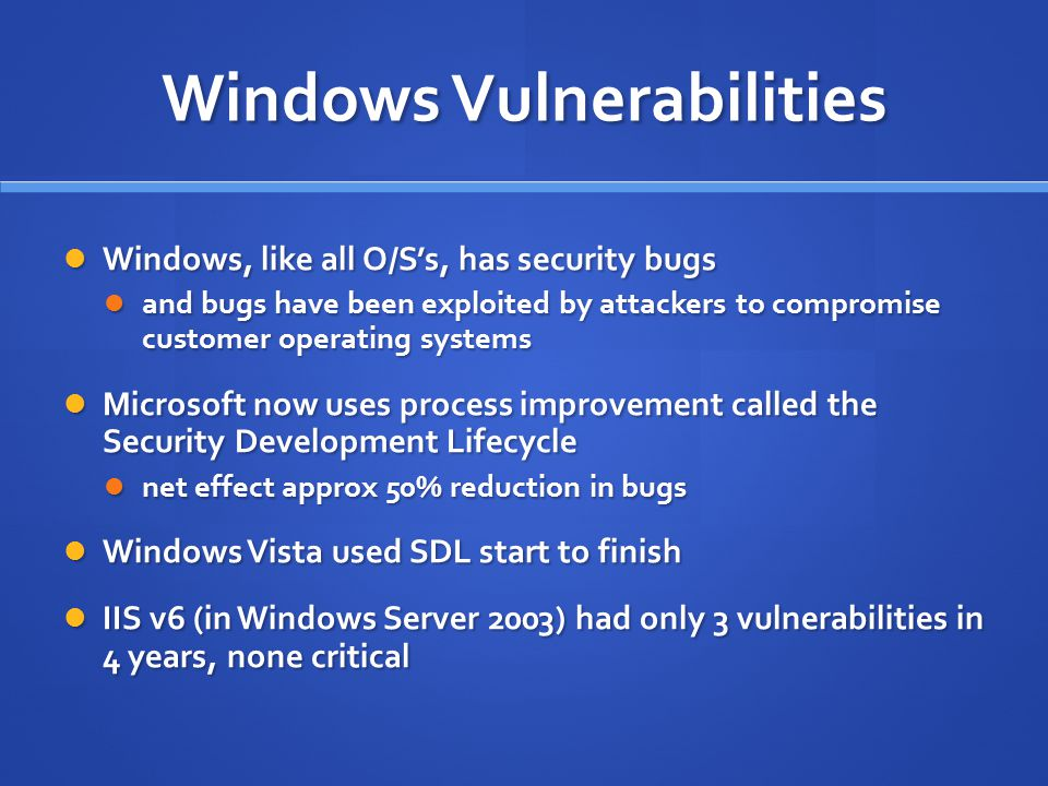 Windows Vulnerabilities