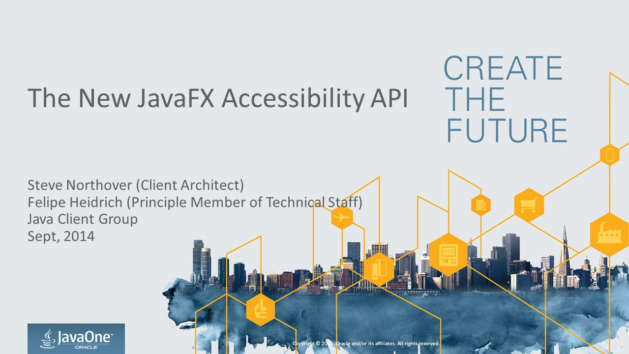 The New JavaFX Accessibility API