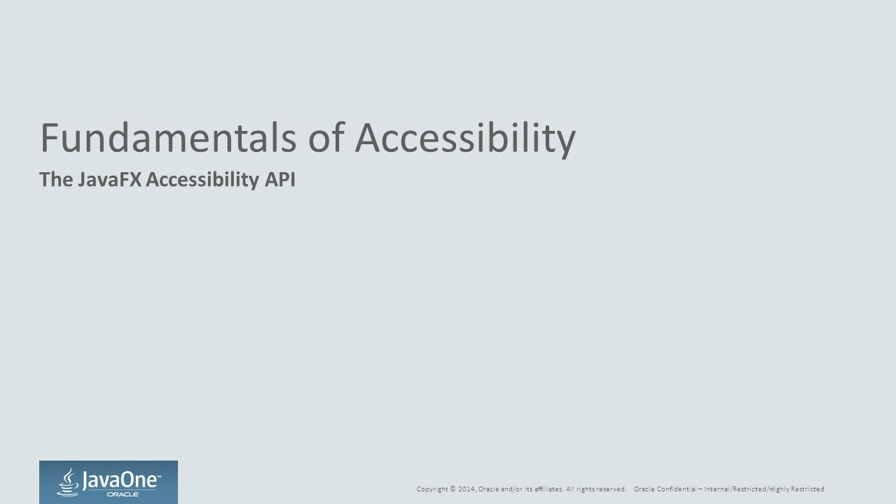 Fundamentals of Accessibility
