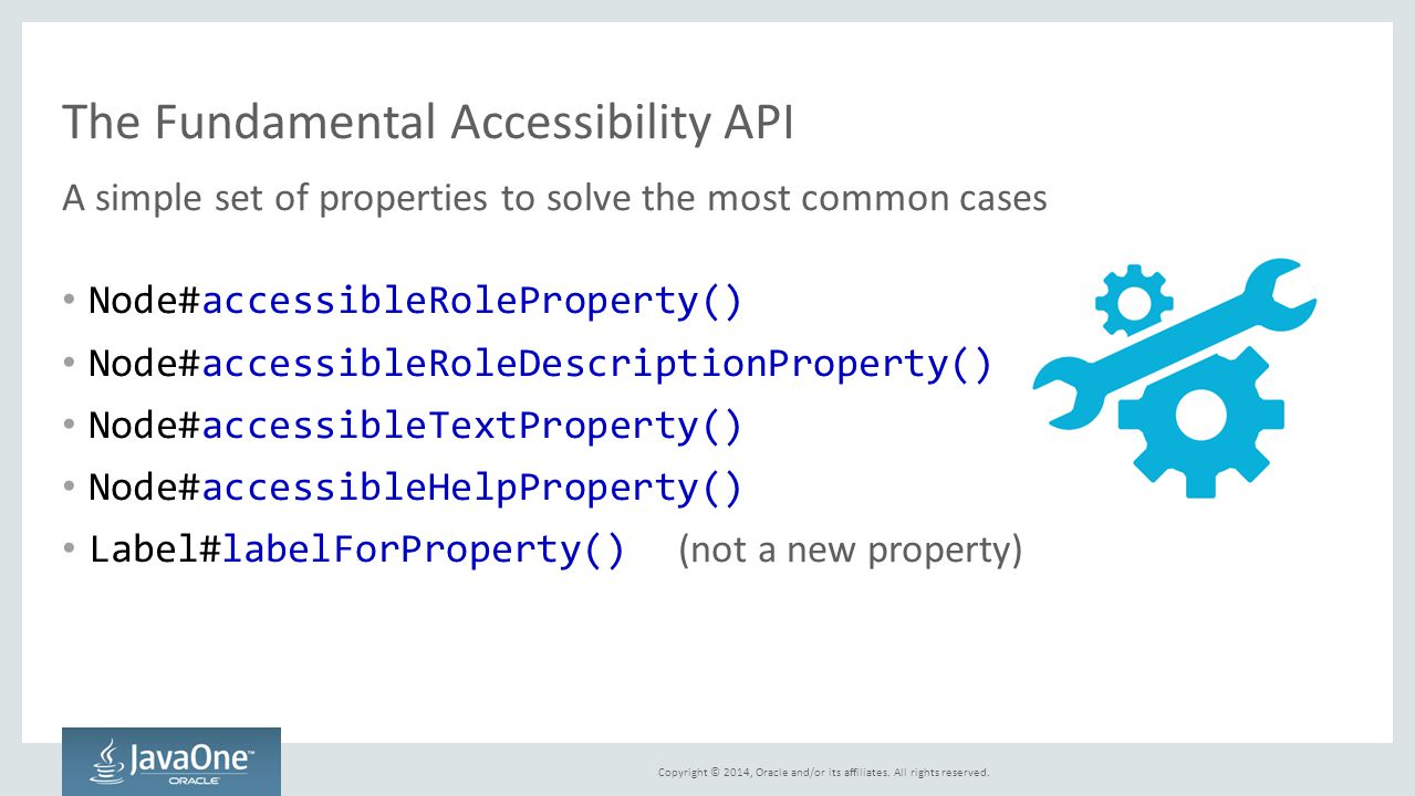 The Fundamental Accessibility API