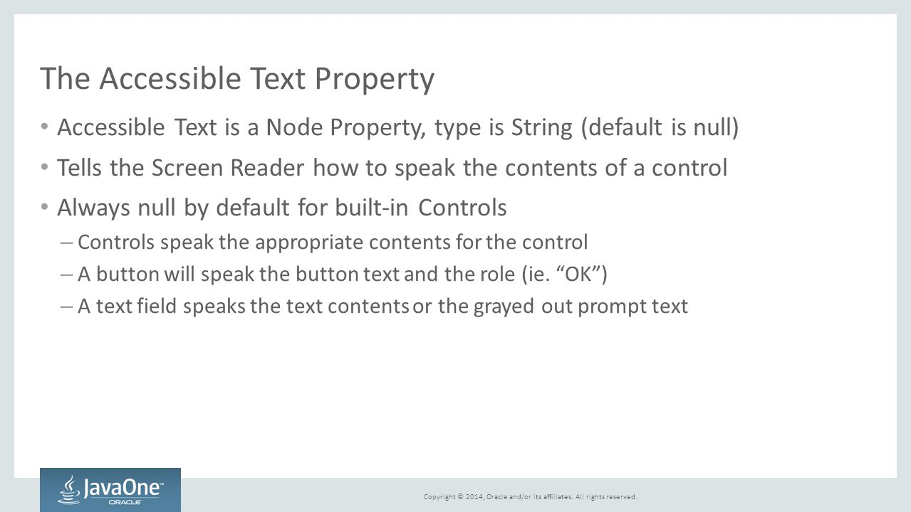 The Accessible Text Property