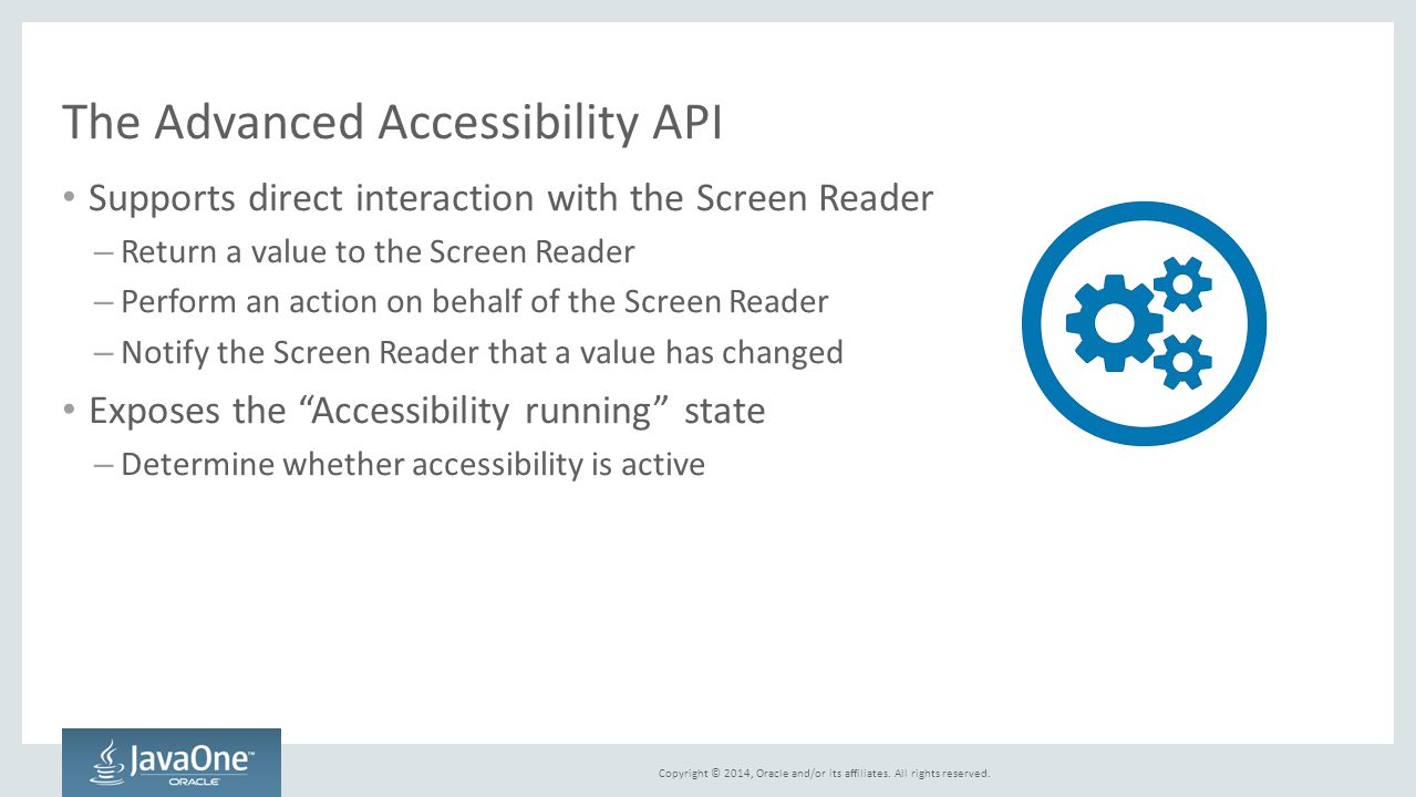 The Advanced Accessibility API