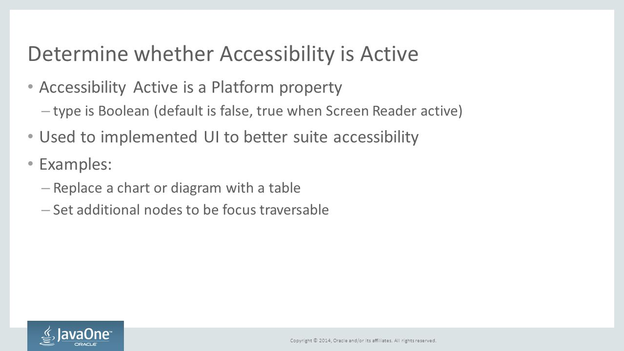 Determine whether Accessibility is Active