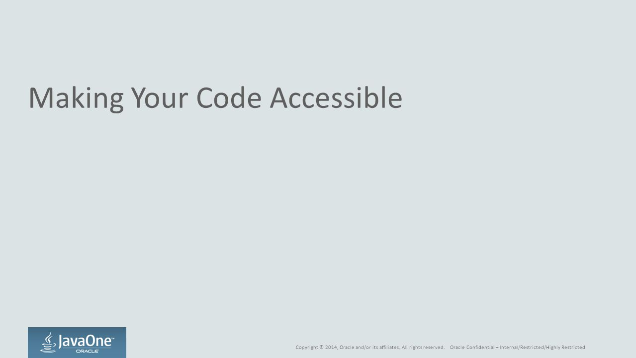 Making Your Code Accessible