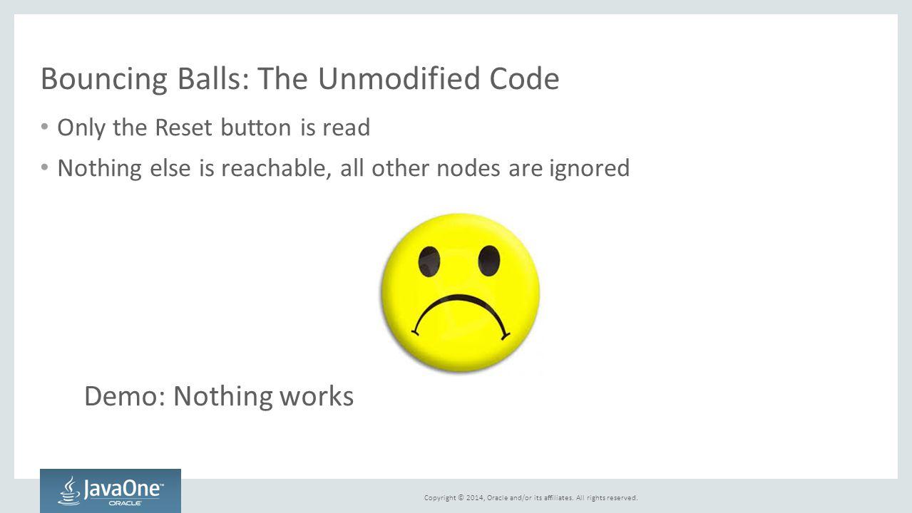 Bouncing Balls: The Unmodified Code
