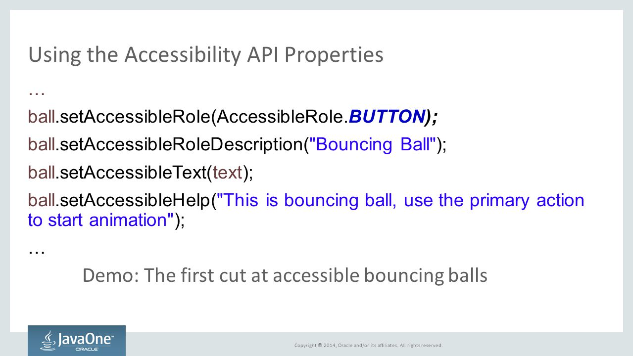 Using the Accessibility API Properties