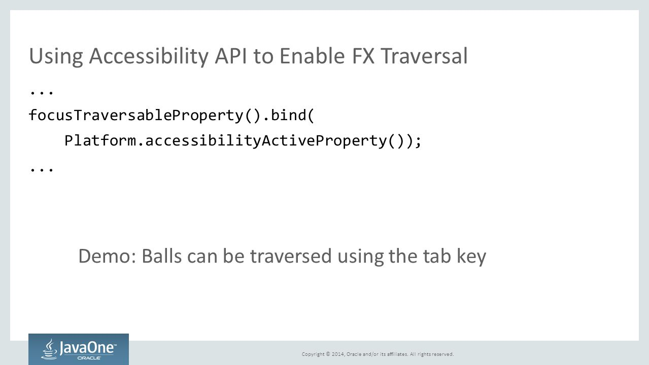 Using Accessibility API to Enable FX Traversal