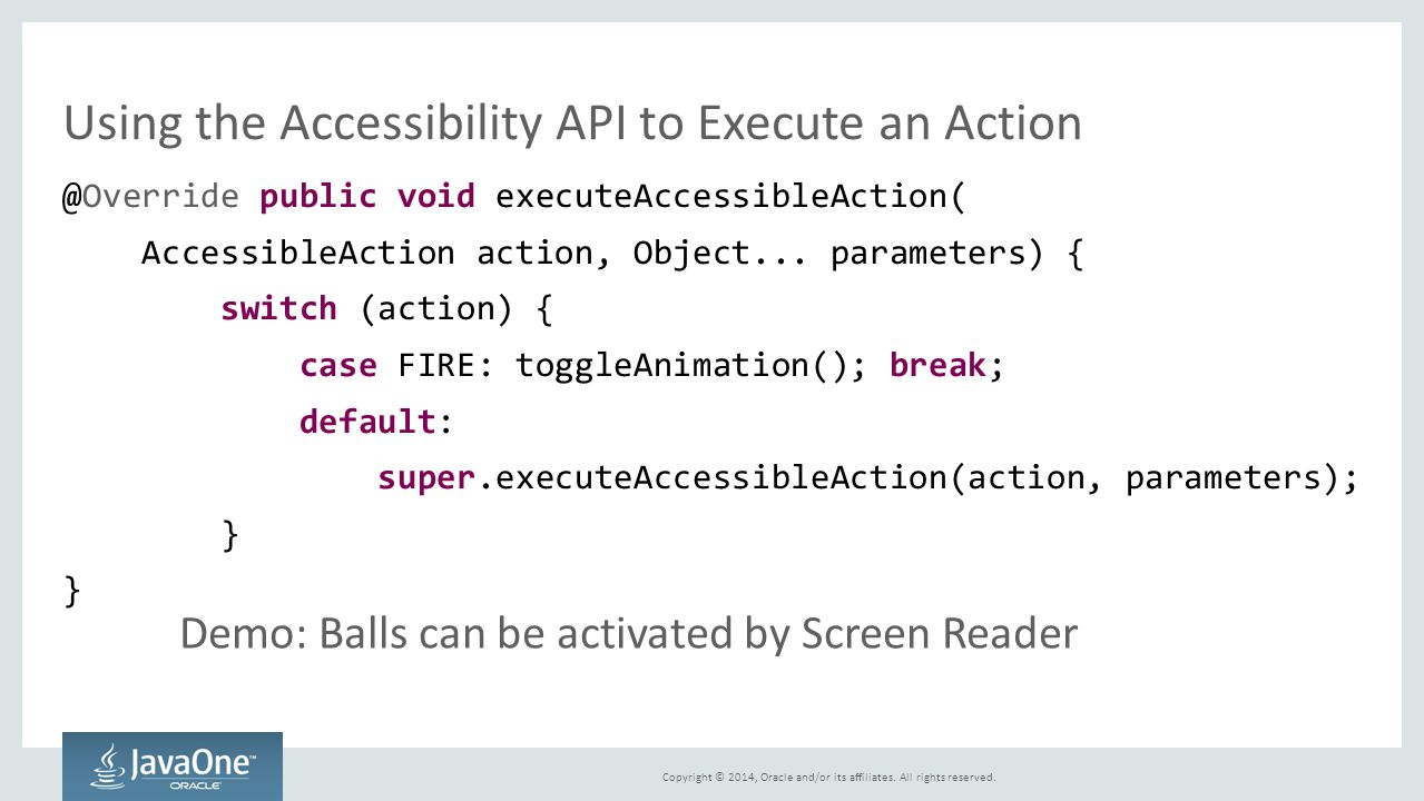 Using the Accessibility API to Execute an Action