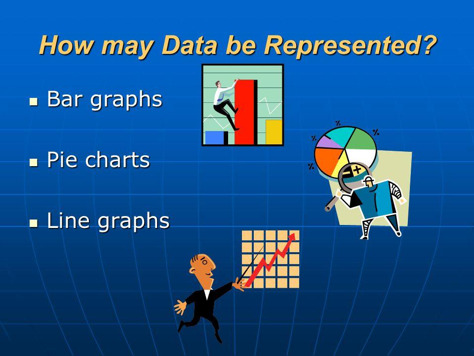 How may Data be Represented