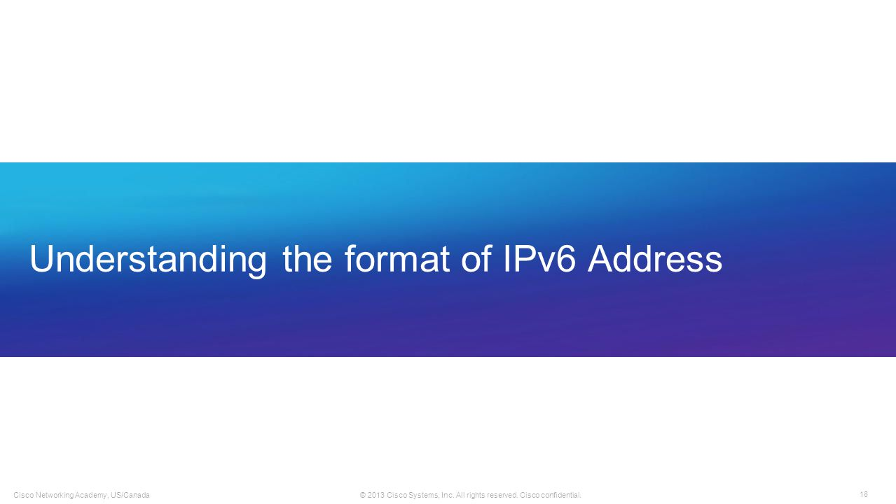 Understanding the format of IPv6 Address
