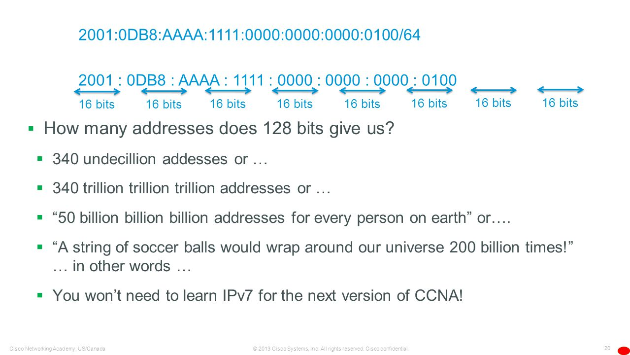 How many addresses does 128 bits give us