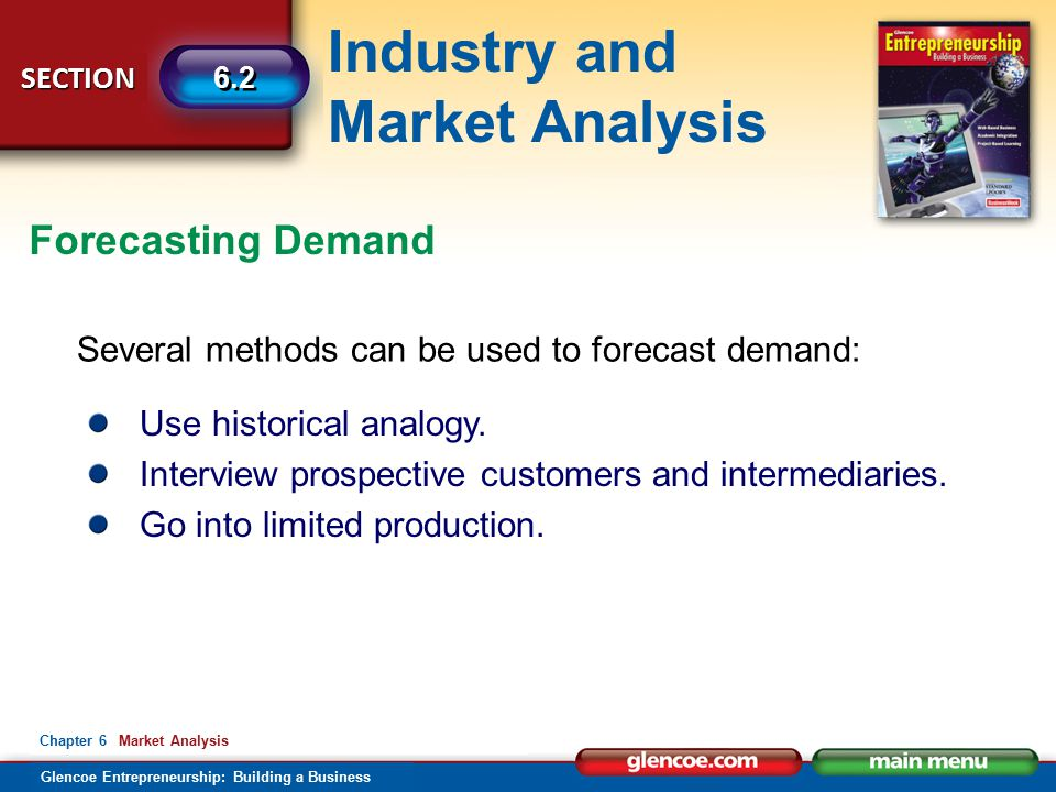 Forecasting Demand Several methods can be used to forecast demand: