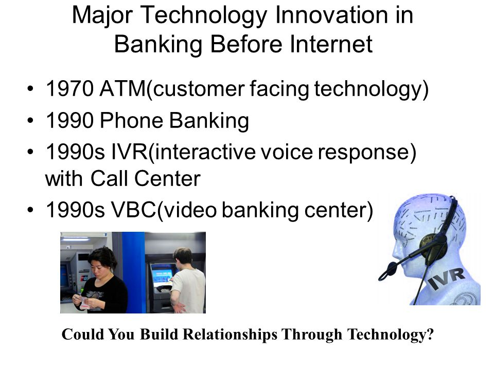Major Technology Innovation in Banking Before Internet