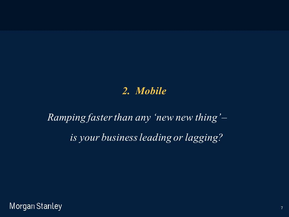 Ramping faster than any 'new new thing' –