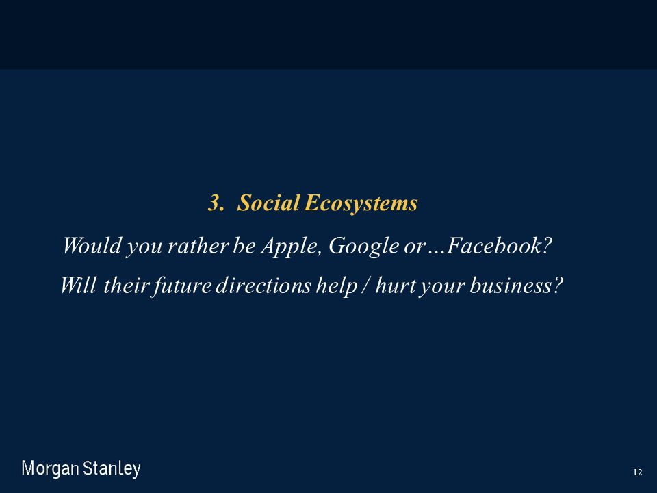 Will their future directions help / hurt your business