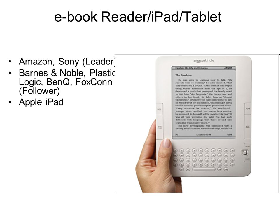 e-book Reader/iPad/Tablet