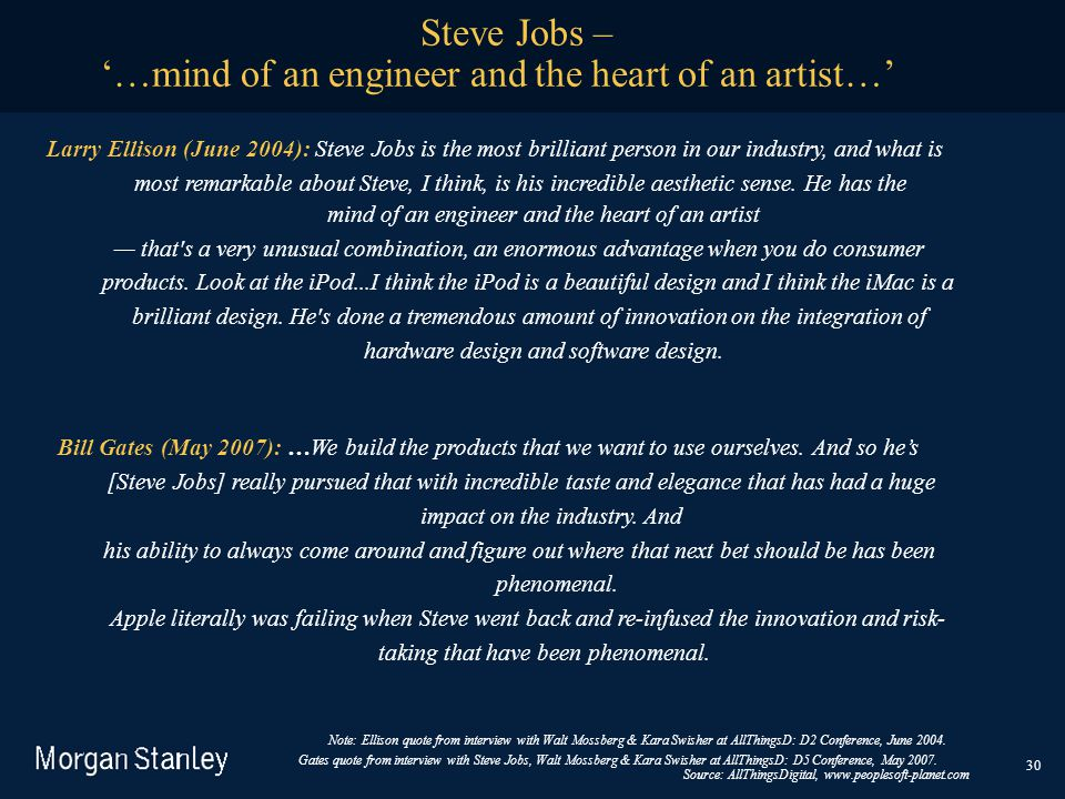 '…mind of an engineer and the heart of an artist…'