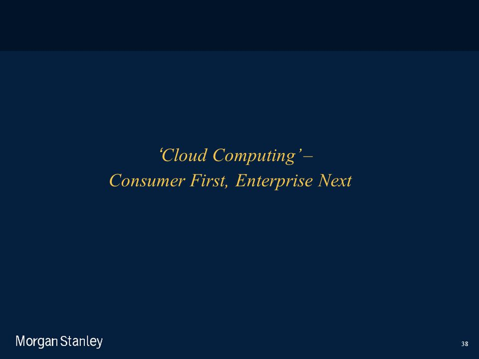 Consumer First, Enterprise Next