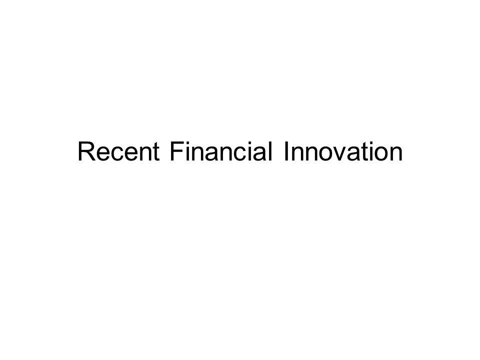 Recent Financial Innovation