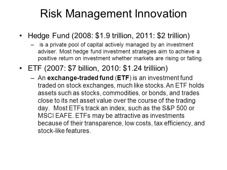 Risk Management Innovation