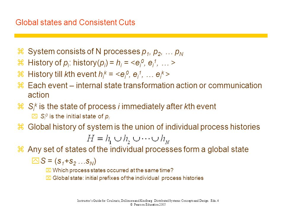 Global states and Consistent Cuts